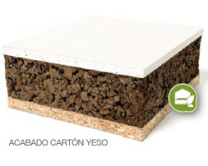 Panel sandwich con nucleo de corcho natural y acabado en cartón yeso